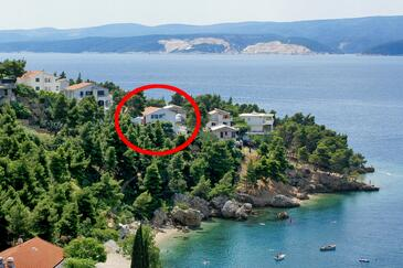 Balića Rat, Omiš, Obiekt 2753 - Apartamenty przy morzu ze żwirową plażą.
