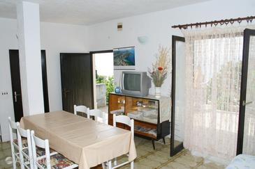 Lokva Rogoznica, Dining room in the apartment, dopusteni kucni ljubimci i WIFI.
