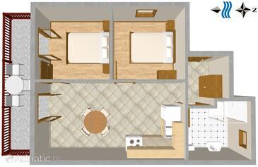 Lokva Rogoznica, План в размещении типа apartment, Домашние животные допускаются и WiFi.