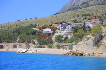 Lokva Rogoznica, Omiš, Obiekt 2762 - Apartamenty przy morzu ze żwirową plażą.