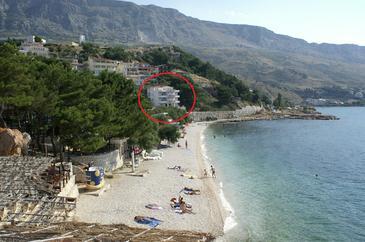 Duće, Omiš, Obiekt 2767 - Apartamenty przy morzu ze żwirową plażą.