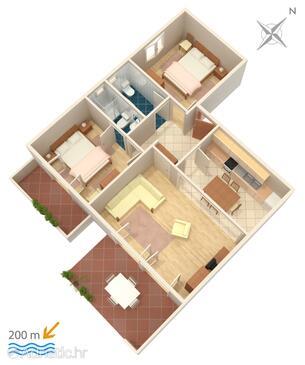 Duće, План в размещении типа apartment, WiFi.