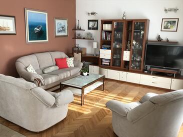 Duće, Sala de estar in the apartment, WiFi.