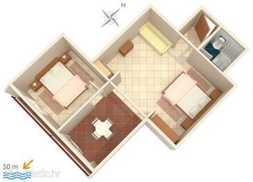 Nemira, Schema nell'alloggi del tipo apartment, animali domestici ammessi e WiFi.