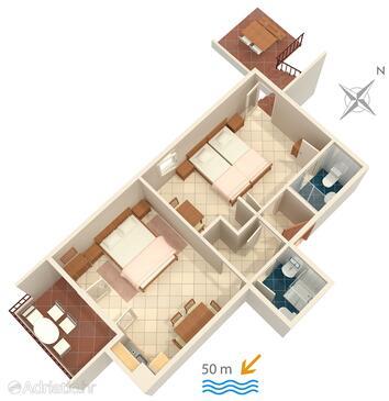 Nemira, Grundriss in folgender Unterkunftsart apartment, Haustiere erlaubt und WiFi.