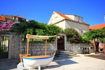 Orebić, Pelješac, Obiekt 279 - Pokoje przy morzu ze żwirową plażą.