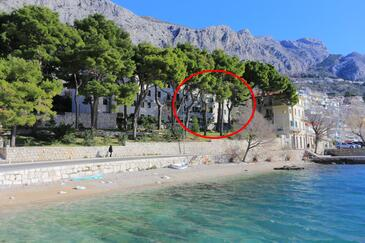 Omiš, Omiš, Objekt 2806 - Ubytovanie blízko mora s kamienkovou plážou.
