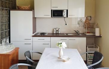 Sumpetar, Kuchyňa v ubytovacej jednotke apartment, WIFI.