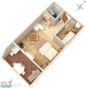 Sumpetar, Plan in the apartment, WiFi.