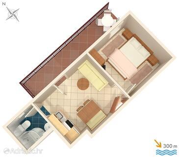 Stanići, План в размещении типа apartment, WiFi.
