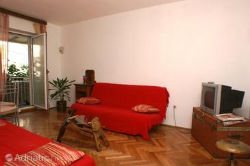 Split, Living room in the apartment, dopusteni kucni ljubimci.