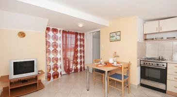 Supetar, Dining room in the studio-apartment, dopusteni kucni ljubimci i WIFI.
