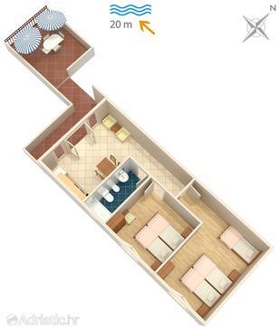 Luka Dubrava, План в размещении типа apartment, WiFi.