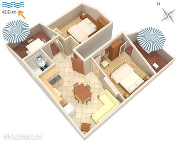 Mirca, Plan in the apartment, WIFI.