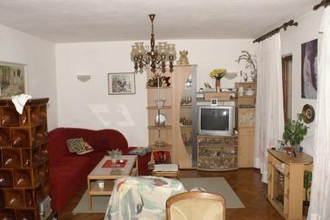 Supetar, Pokój dzienny w zakwaterowaniu typu apartment, WIFI.