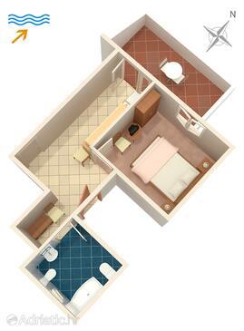 Splitska, Plan in the apartment, WIFI.