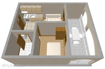 Vir, Plan in the apartment, WIFI.