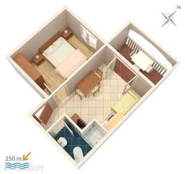 Bol, Plan in the apartment, WIFI.