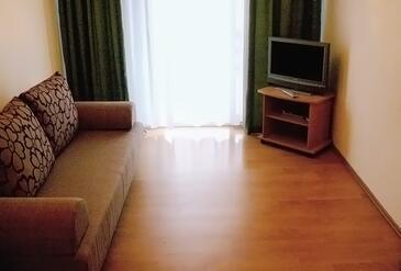 Bol, Dnevni boravak u smještaju tipa apartment, dostupna klima i WiFi.