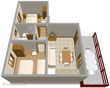 Nin, Plan in the apartment, WiFi.