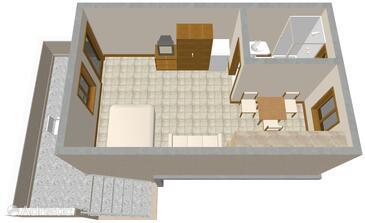 Nin, Plan in the studio-apartment, WIFI.