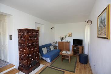 Supetar, Pokój dzienny w zakwaterowaniu typu apartment, dostupna klima.