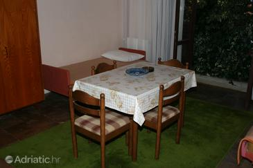 Splitska, Living room in the apartment, air condition available, (pet friendly) and WiFi.