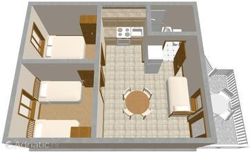 Vir, План в размещении типа apartment, Домашние животные допускаются и WiFi.