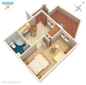 Postira, План в размещении типа apartment, Домашние животные допускаются и WiFi.