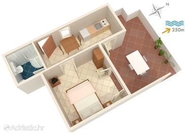 Postira, Plan in the apartment, (pet friendly) and WiFi.