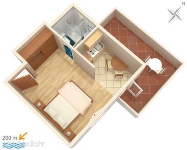 Bol, План в размещении типа studio-apartment, WiFi.