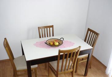 Povlja, Столовая в размещении типа apartment, доступный кондиционер и WiFi.