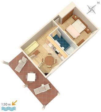 Sumartin, Plan kwatery w zakwaterowaniu typu apartment, WIFI.
