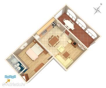 Sutivan, Plan in the apartment, WIFI.