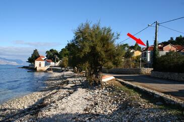 Sutivan, Brač, Objekt 2943 - Ubytovanie blízko mora s kamienkovou plážou.