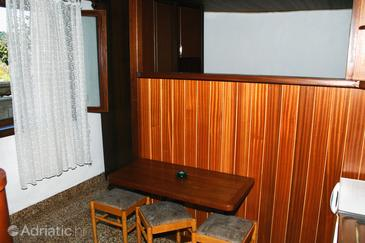 Sumartin, Dining room in the studio-apartment, (pet friendly) and WiFi.