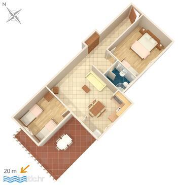 Ražanj, Plan in the apartment, WiFi.