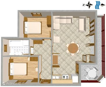 Mimice, Plan in the apartment, (pet friendly) and WiFi.