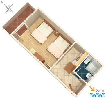 Lokva Rogoznica, Plan kwatery w zakwaterowaniu typu apartment, WiFi.