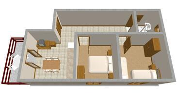 Zaton, Plan in the apartment, WIFI.