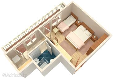 Du e studio flat with balcony and sea view as 2992 a for Apartment wifi plans