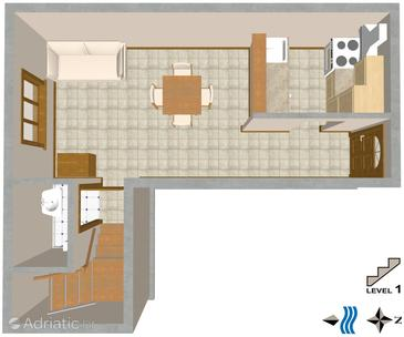 Split, Plan in the apartment.