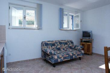 Vrsar, Obývací pokoj v ubytování typu apartment, dostupna klima, dopusteni kucni ljubimci i WIFI.