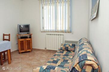 Vrsar, Гостиная в размещении типа apartment, air condition available, Домашние животные допускаются и WiFi.