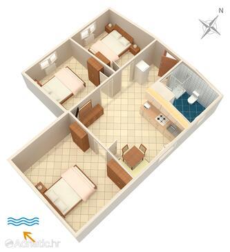 Funtana, План в размещении типа apartment, Домашние животные допускаются и WiFi.
