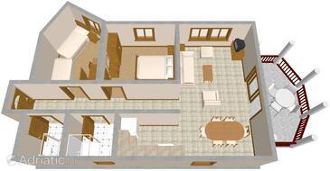 Opatija, Plan in the apartment, WIFI.