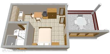 Opatija, Plan in the studio-apartment, WIFI.