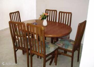 Klenovica, Dining room in the apartment, WiFi.