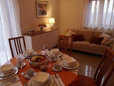 Krnica, Obývací pokoj v ubytování typu apartment, s klimatizací a WiFi.