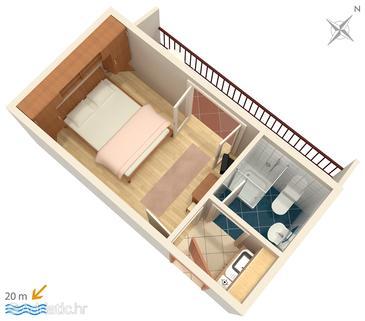 Drvenik Donja vala, Plan in the apartment, WIFI.